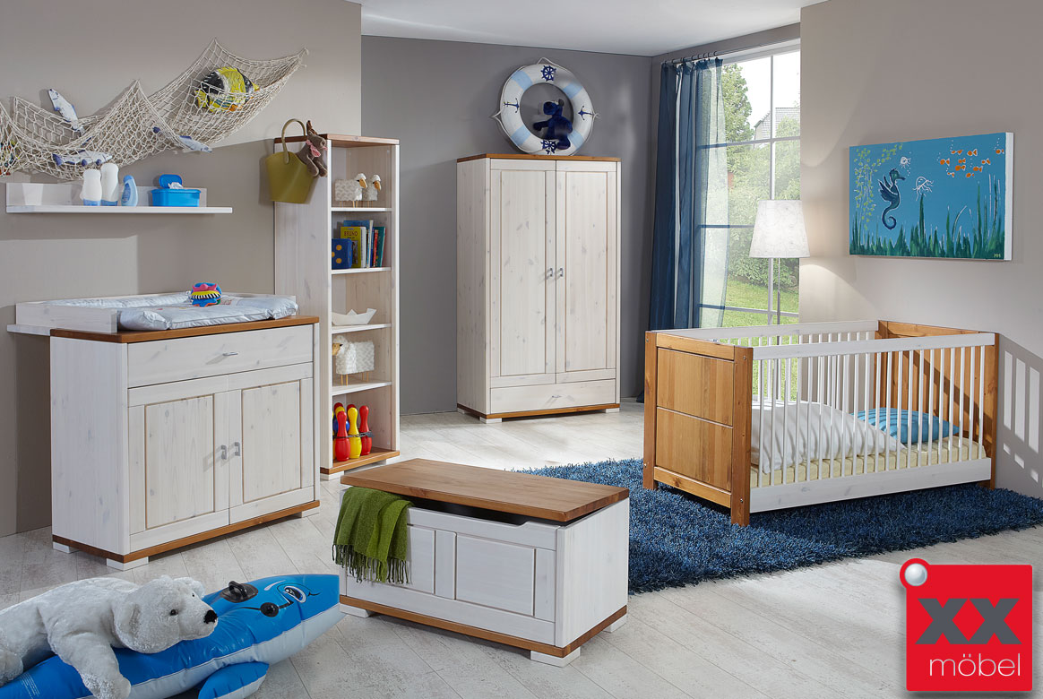 Abbildung Babyzimmer Massivholz Kiefer geölt Vita | B04