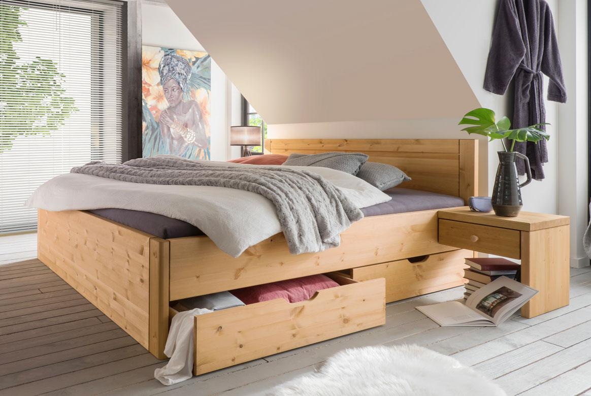 Vita Massivholz Bett 180x200 cm